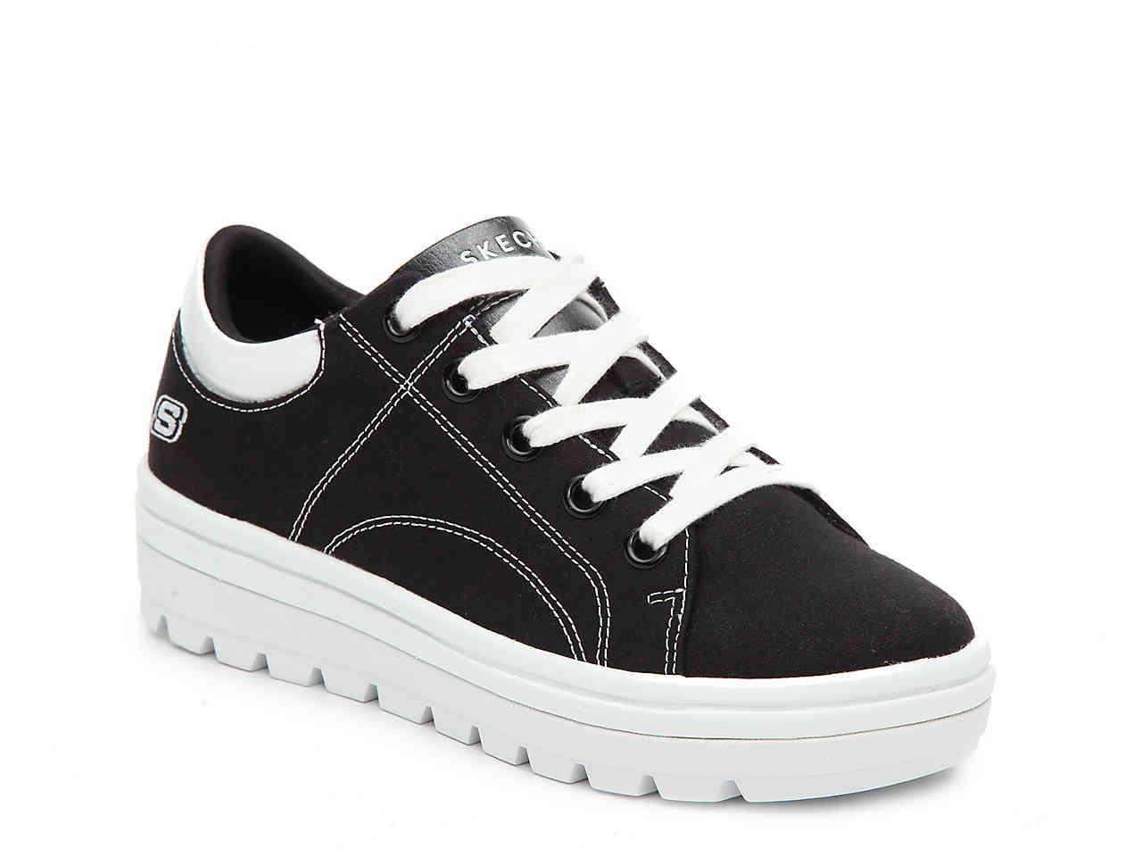 02b7d81f73b Lyst - Skechers Street Cleat Back Again Platform Sneaker in Black