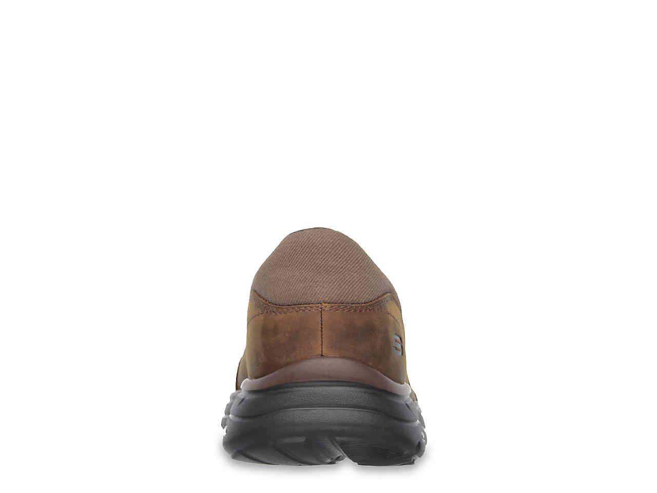 3ae481ed176 Skechers - Brown Relaxed Fit Glides Calculous Slip-on for Men - Lyst. View  fullscreen