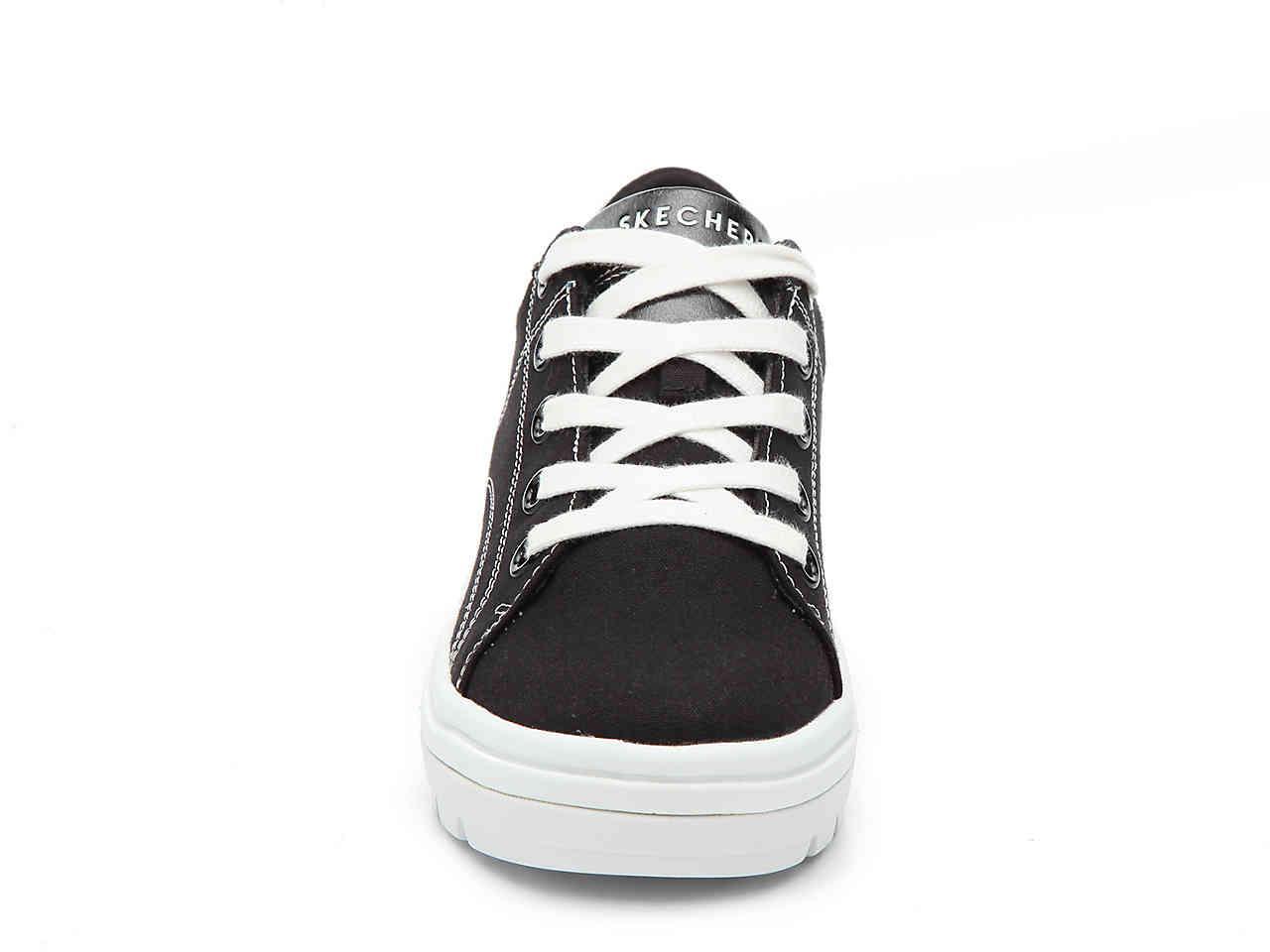 aef918c5c3f Skechers - Black Street Cleat Back Again Platform Sneaker - Lyst. View  fullscreen