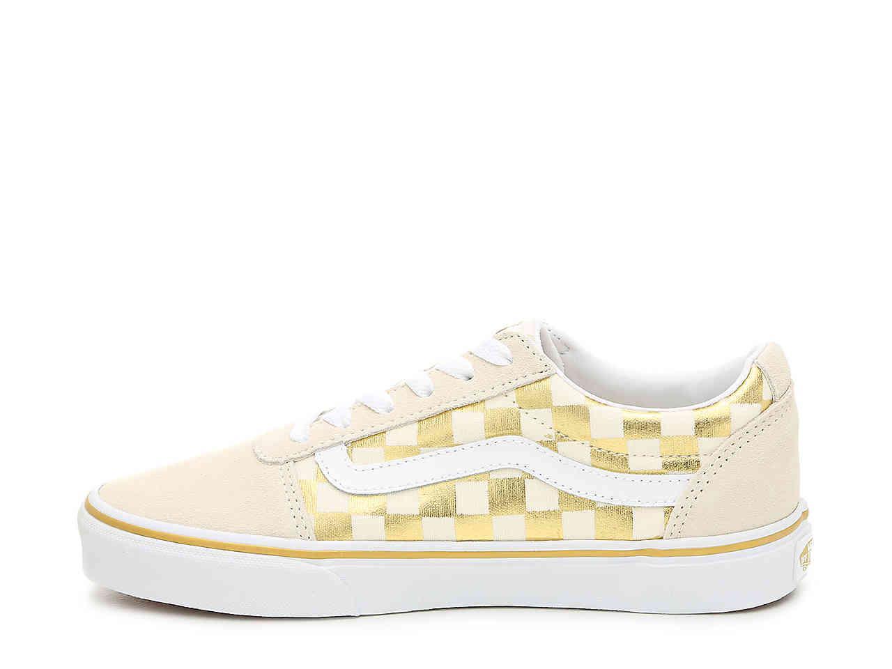 Vans Canvas Ward Lo Sneaker in Cream/Gold Metallic (Metallic) - Lyst
