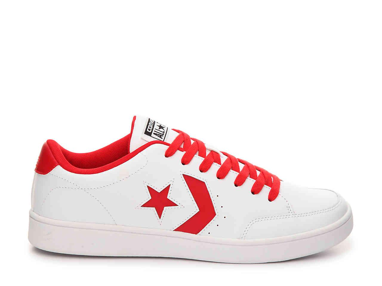 Converse Star Court Sneaker in White/Red (Red) - Lyst
