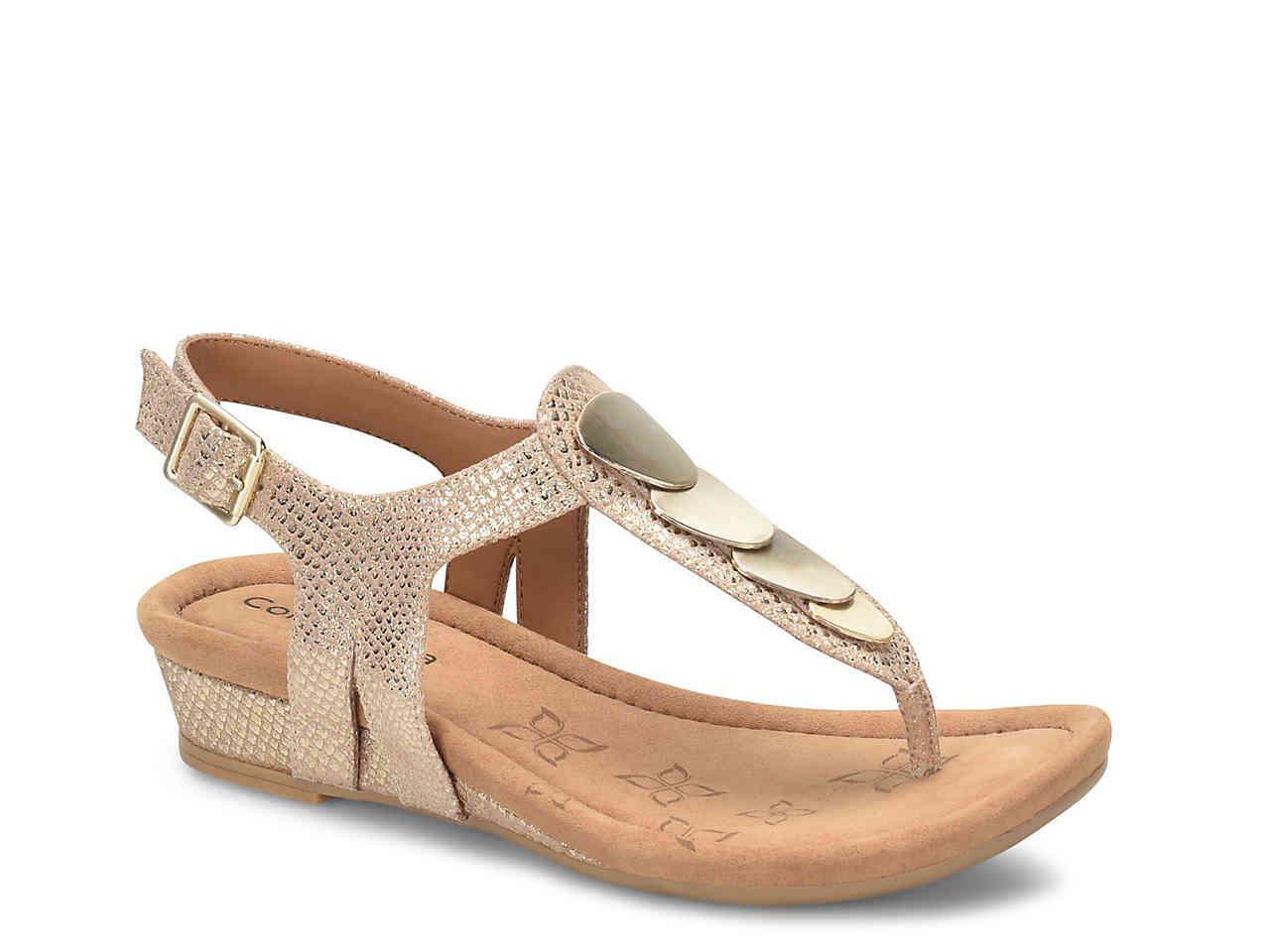 Comfortiva Summit Metallic Suede Sandals q7WIWEH