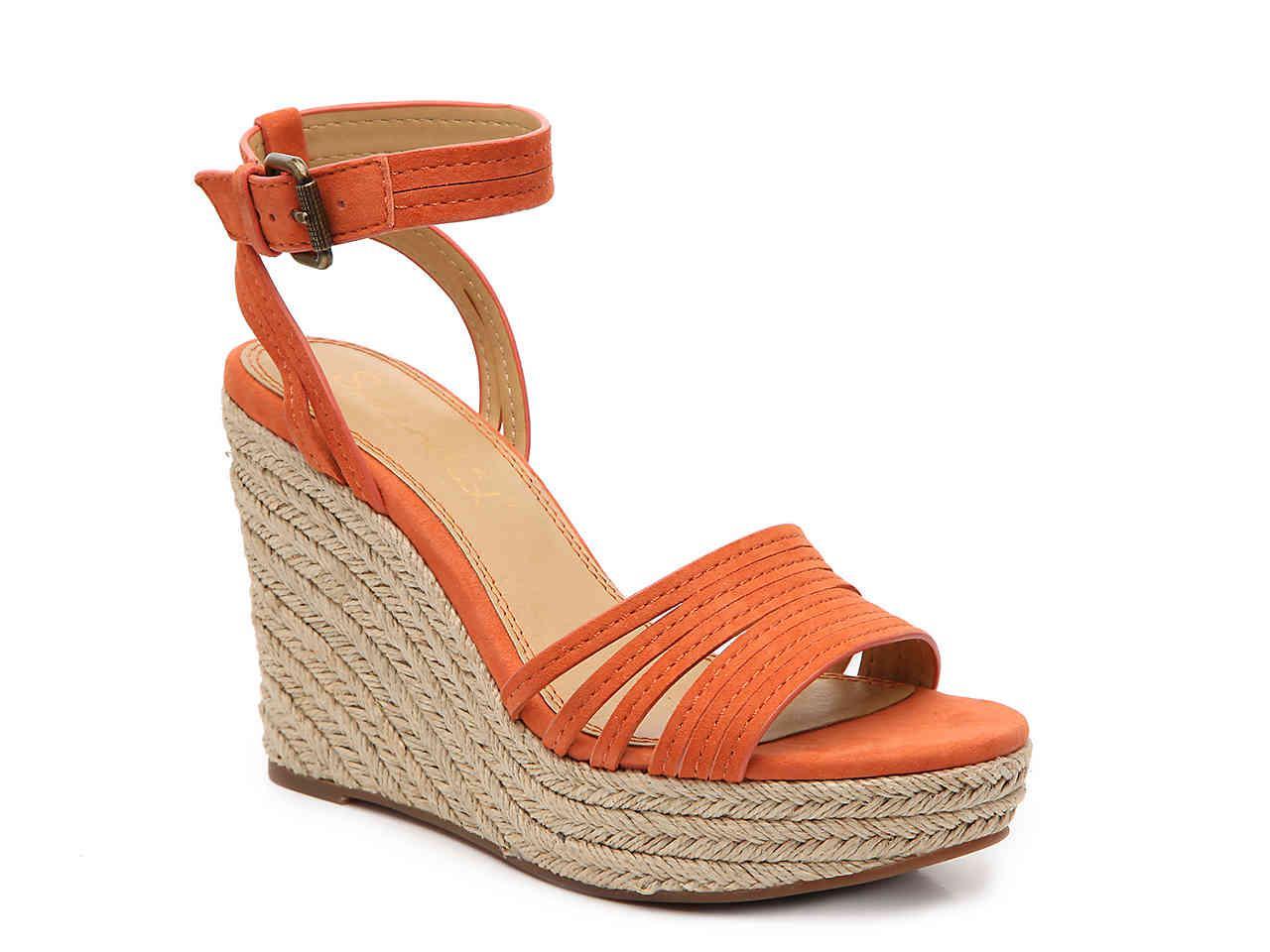 3980dbfc8e8 Splendid Orange Flemming Espadrille Wedge Sandal
