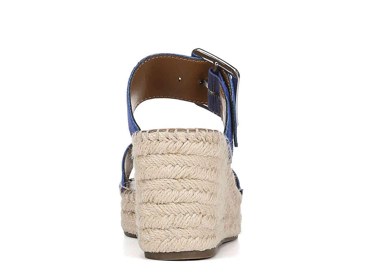 Franco Sarto Coastal Espadrille Wedge Sandal In Blue Lyst