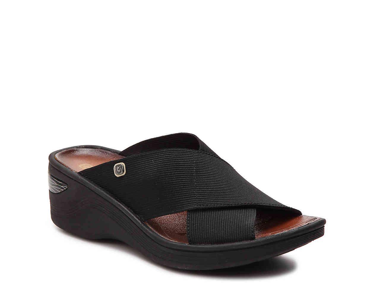 de5bd23f8cd Lyst - Bzees Desire Wedge Sandal in Black - Save 25%