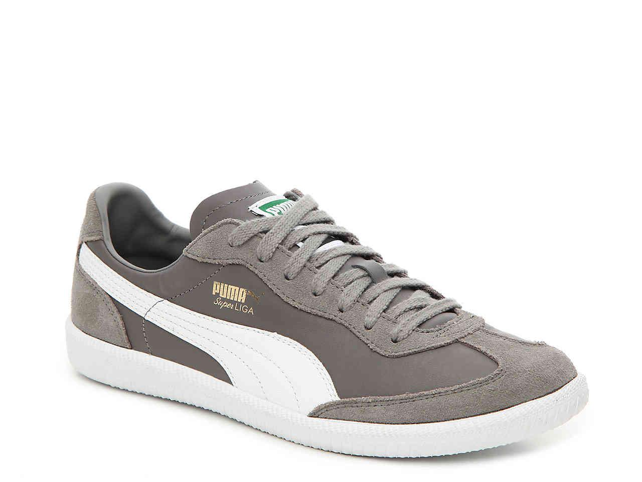 cc65eb729fa0 ... Casual Shoes  PUMA. Mens Gray Super Liga Og Retro Sneaker ...