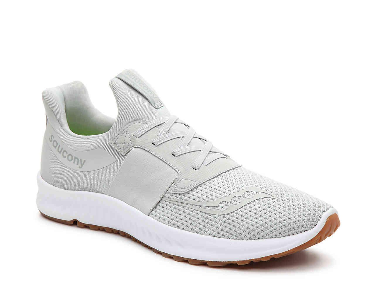 a3d88b96a3 Saucony White Stretch & Go Breeze Lightweight Slip-on Running Shoe for men