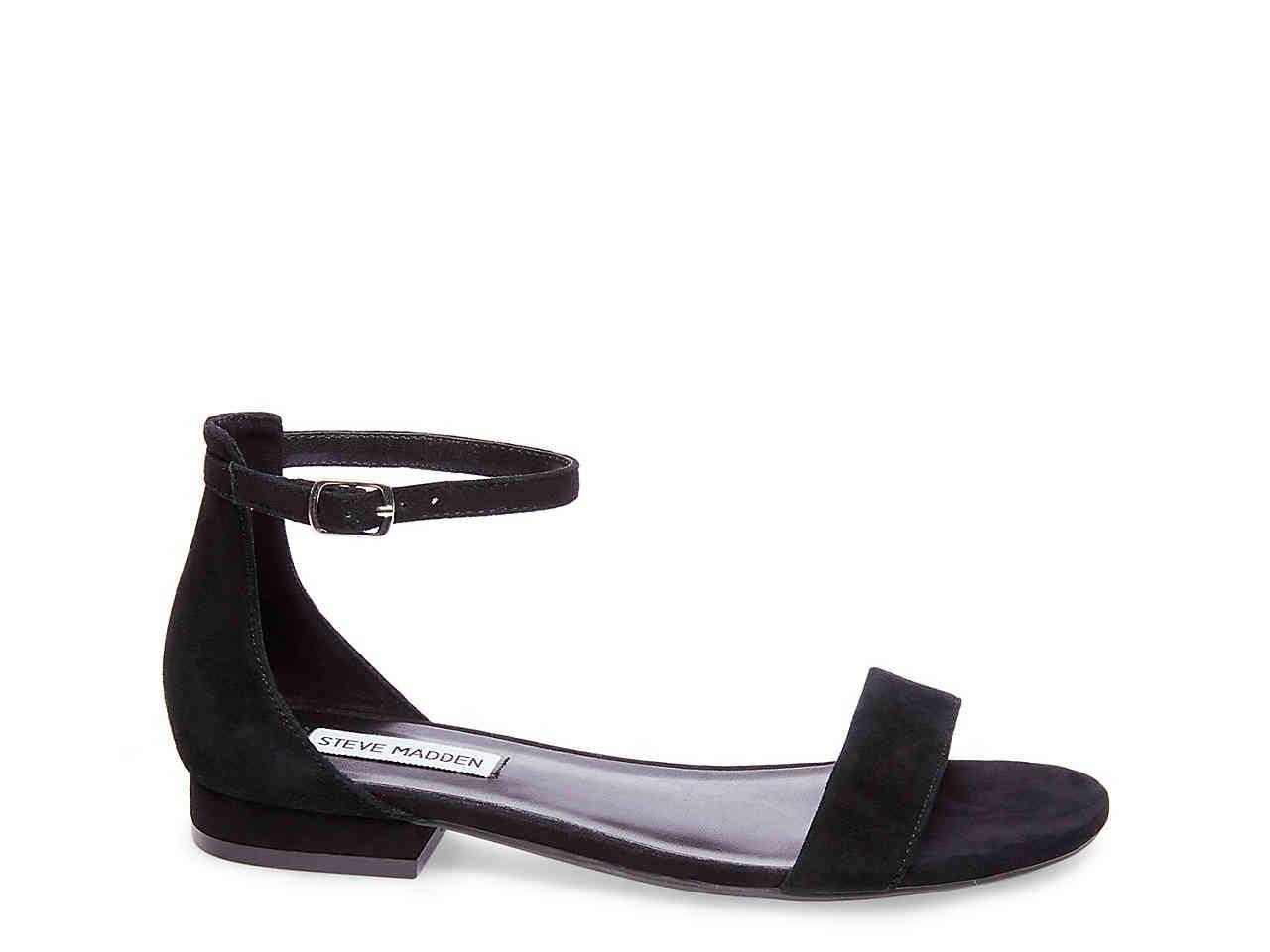7a153b2a7b1 Lyst - Steve Madden Lamp Flat Sandal in Black