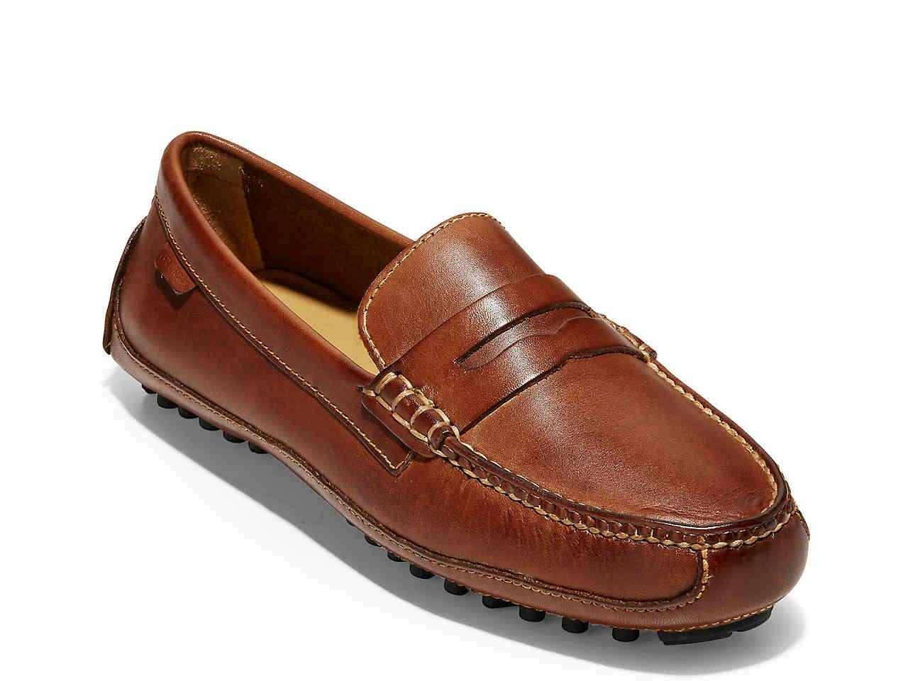Cole Haan Leather Grant Canoe Penny Loafer in Cognac ...