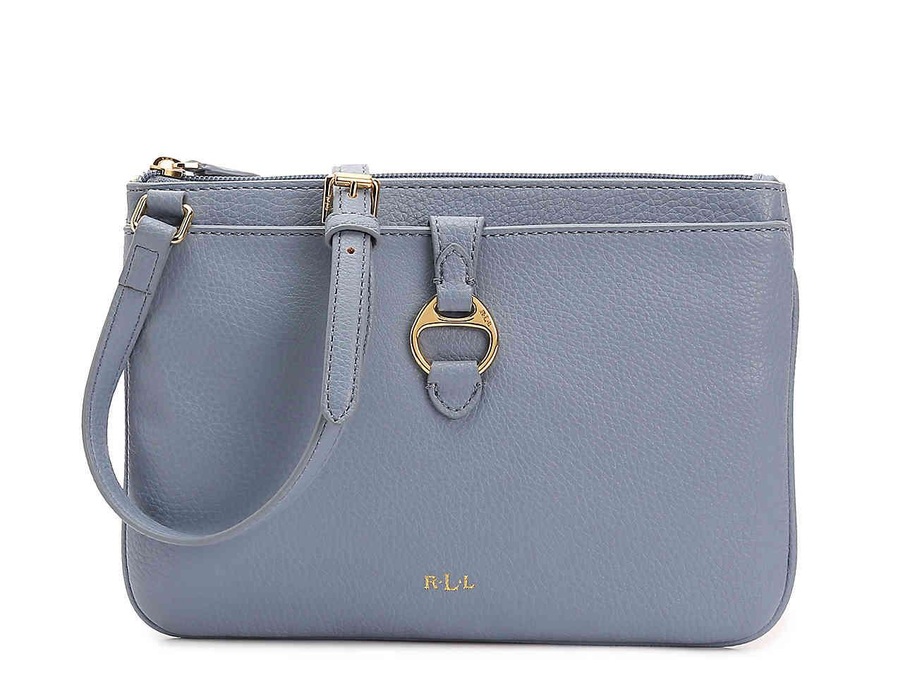 4c13126bc Lauren by Ralph Lauren Anfield Ii Crossbody Bag in Blue - Lyst