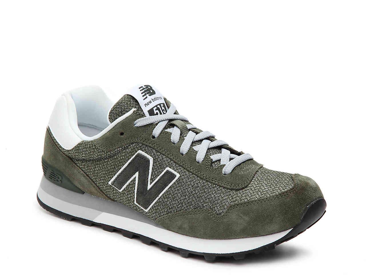 New Balance Suede 515 Retro Sneaker in Olive Green/White (Green ...