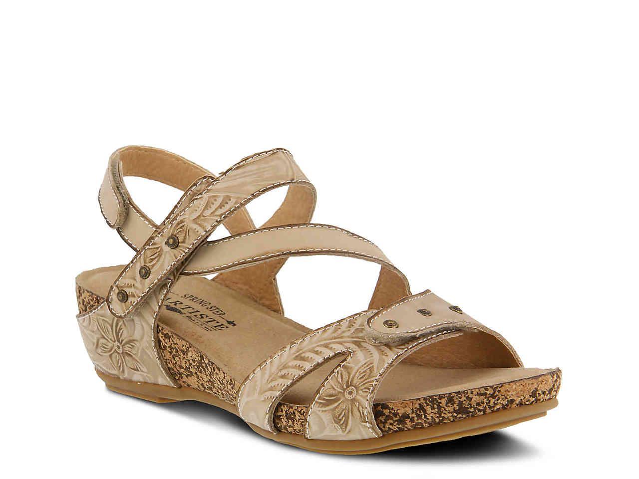 6420901af80d Lyst - Spring Step Quilana Wedge Sandal in Natural