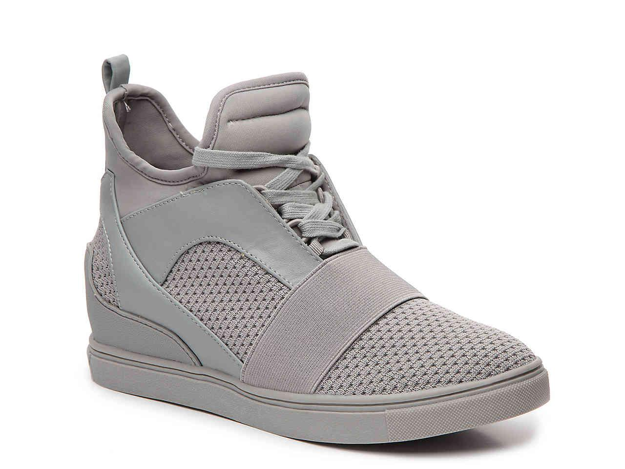 bc254a9895a Lyst - Steve Madden Lexi Wedge Sneaker in Gray