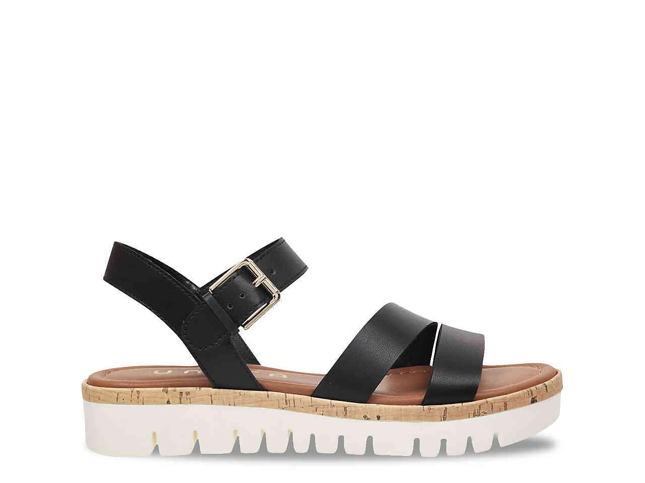 Unisa Brok Platform Sandal in Black - Lyst