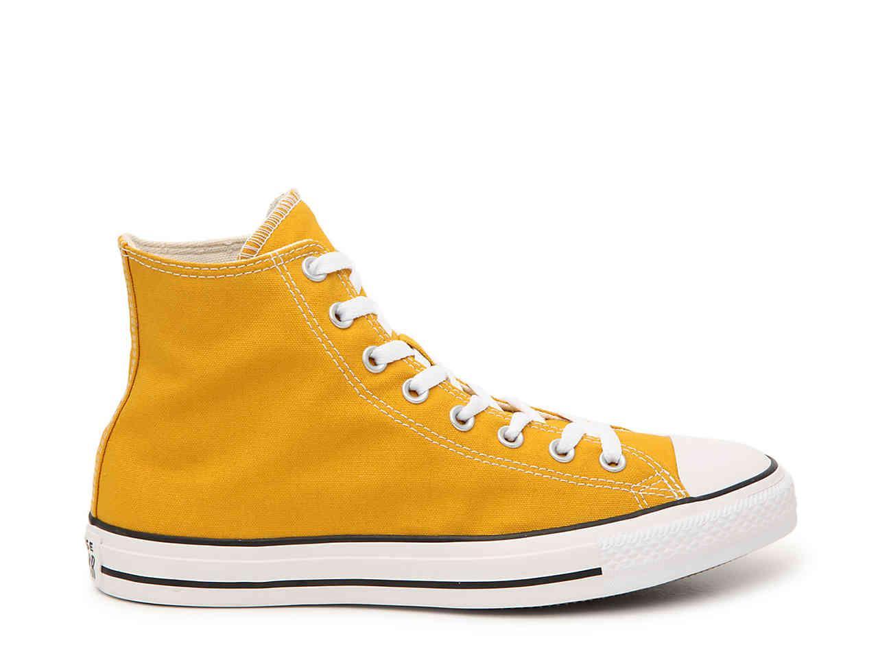 mustard yellow chuck taylor