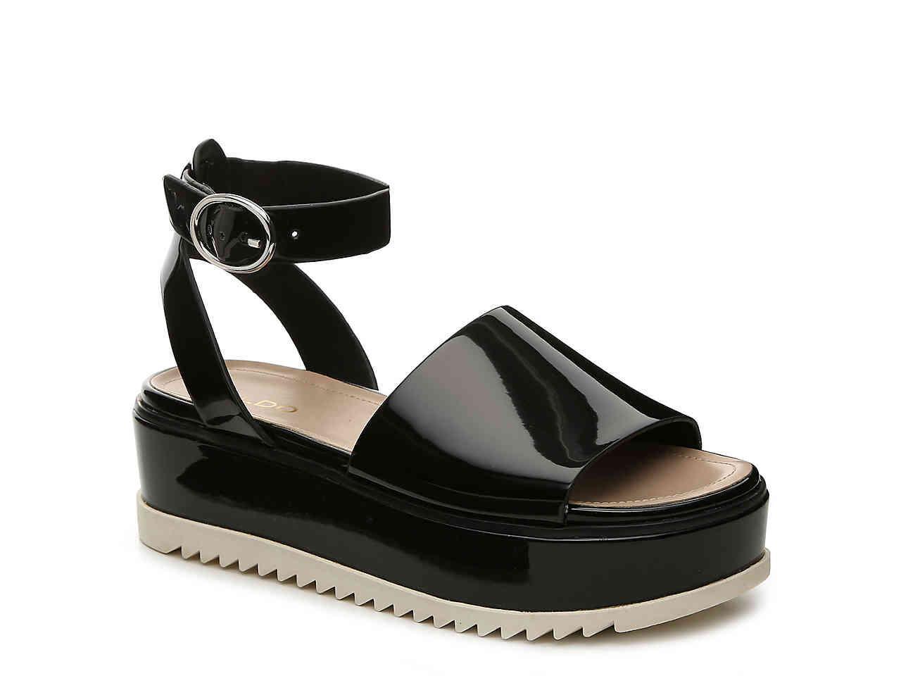 ALDO Leather Jadde Platform Sandal in