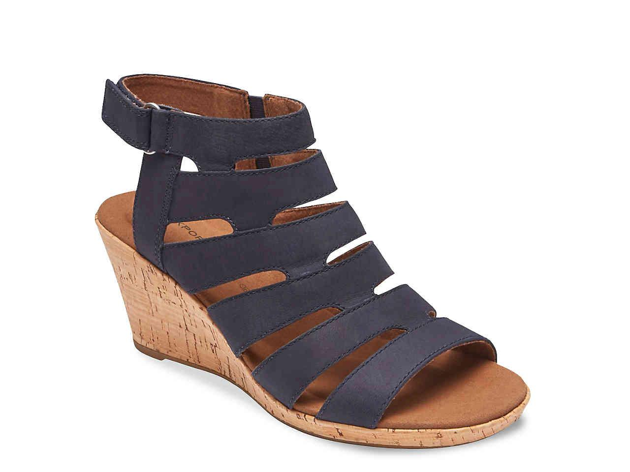 3d9f0f673ee6 Lyst - Rockport Briah Wedge Sandal in Blue