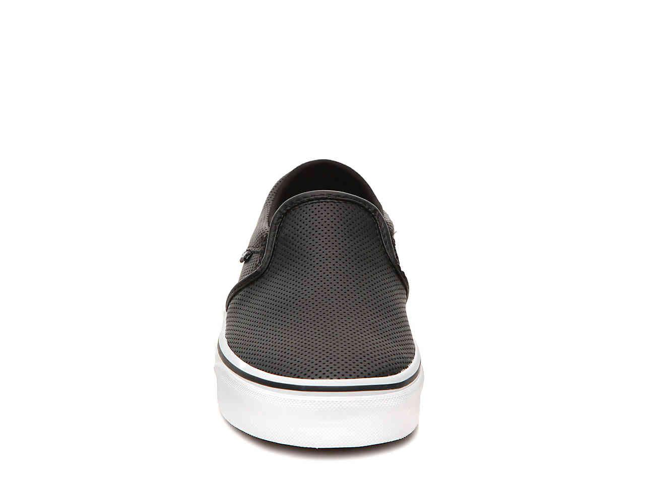 0ca05d02a32 Vans - Black Asher Perforated Slip-on Sneaker - Lyst. View fullscreen