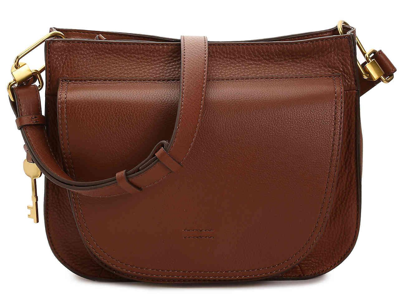 e0017a68bff15 Fossil Camden Leather Crossbody Bag in Brown - Lyst