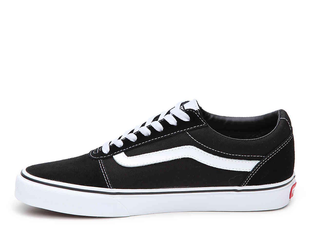 Vans Ward Lo Suede Sneaker in Black