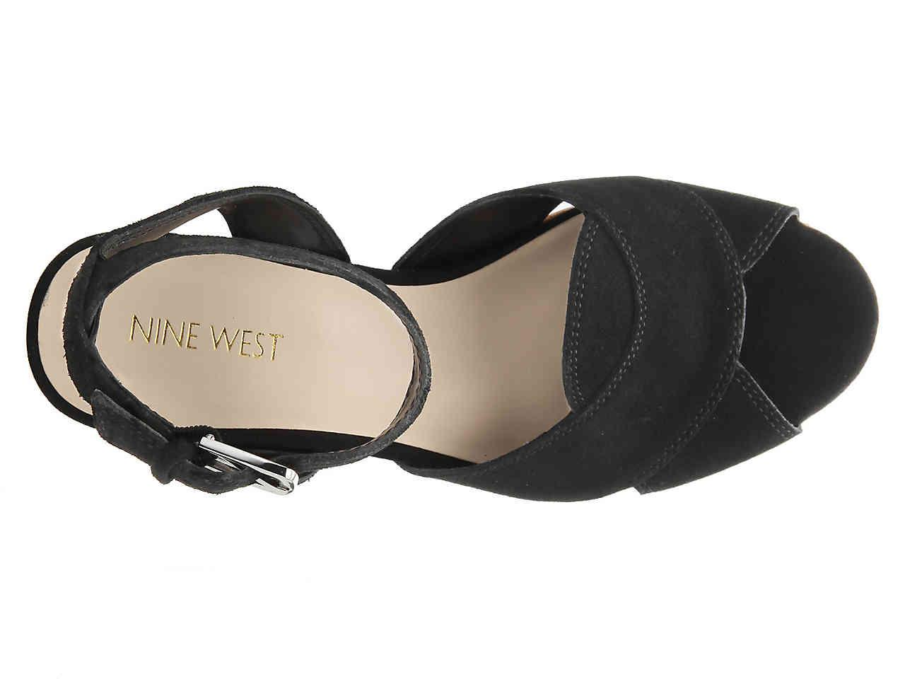 09ade686f08e Nine West - Black Kierredy Wedge Sandal - Lyst. View fullscreen