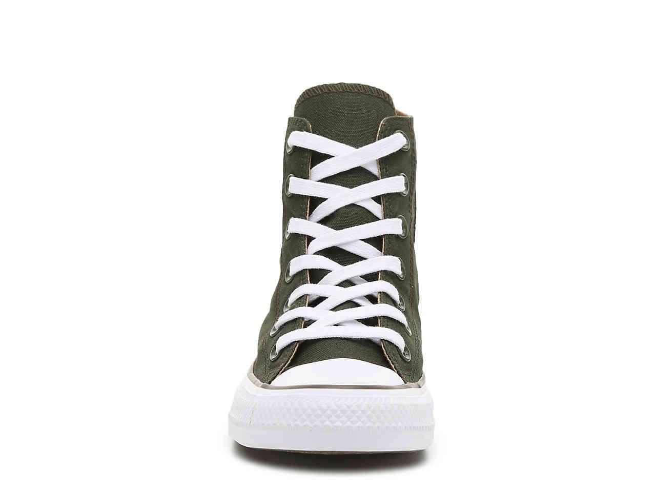 9bedbbb9432856 Converse - Green Chuck Taylor All Star High-top Sneaker for Men - Lyst.  View fullscreen