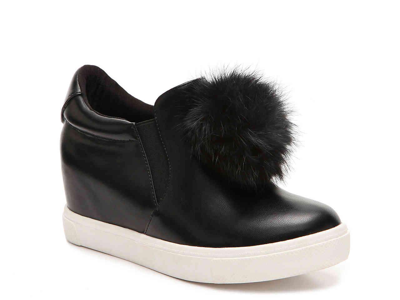 2460a667475 Lyst - Penny Loves Kenny Kick Wedge Sneaker in Black