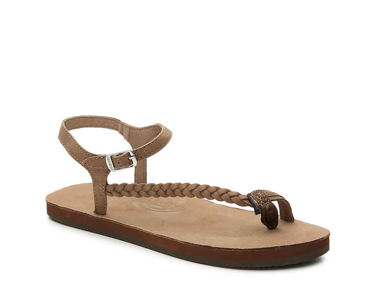 3df109544 Rainbow Sandals - Brown Marley Flat Sandal - Lyst. View fullscreen
