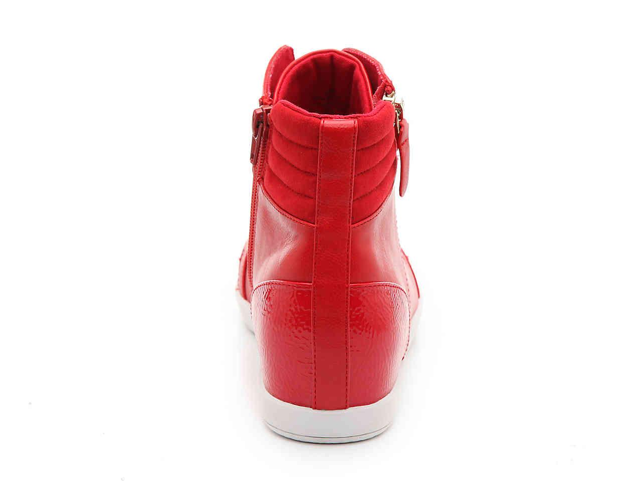 Mix No 6 Gwelia Wedge Sneaker in Red - Lyst