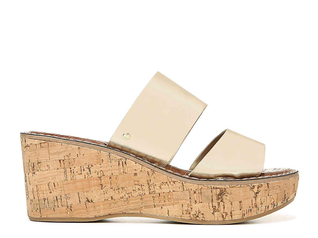 Sam Edelman Leather Reta Wedge Sandal
