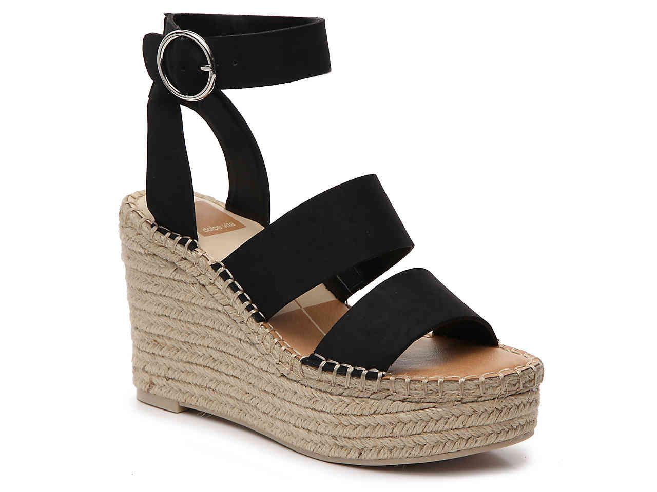 f3ed4afb5c1 Lyst - Dolce Vita Shae Espadrille Wedge Sandal in Black - Save 22%