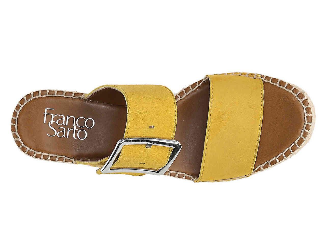 c7fe3d166f3 Franco Sarto Yellow Coastal Espadrille Wedge Sandal
