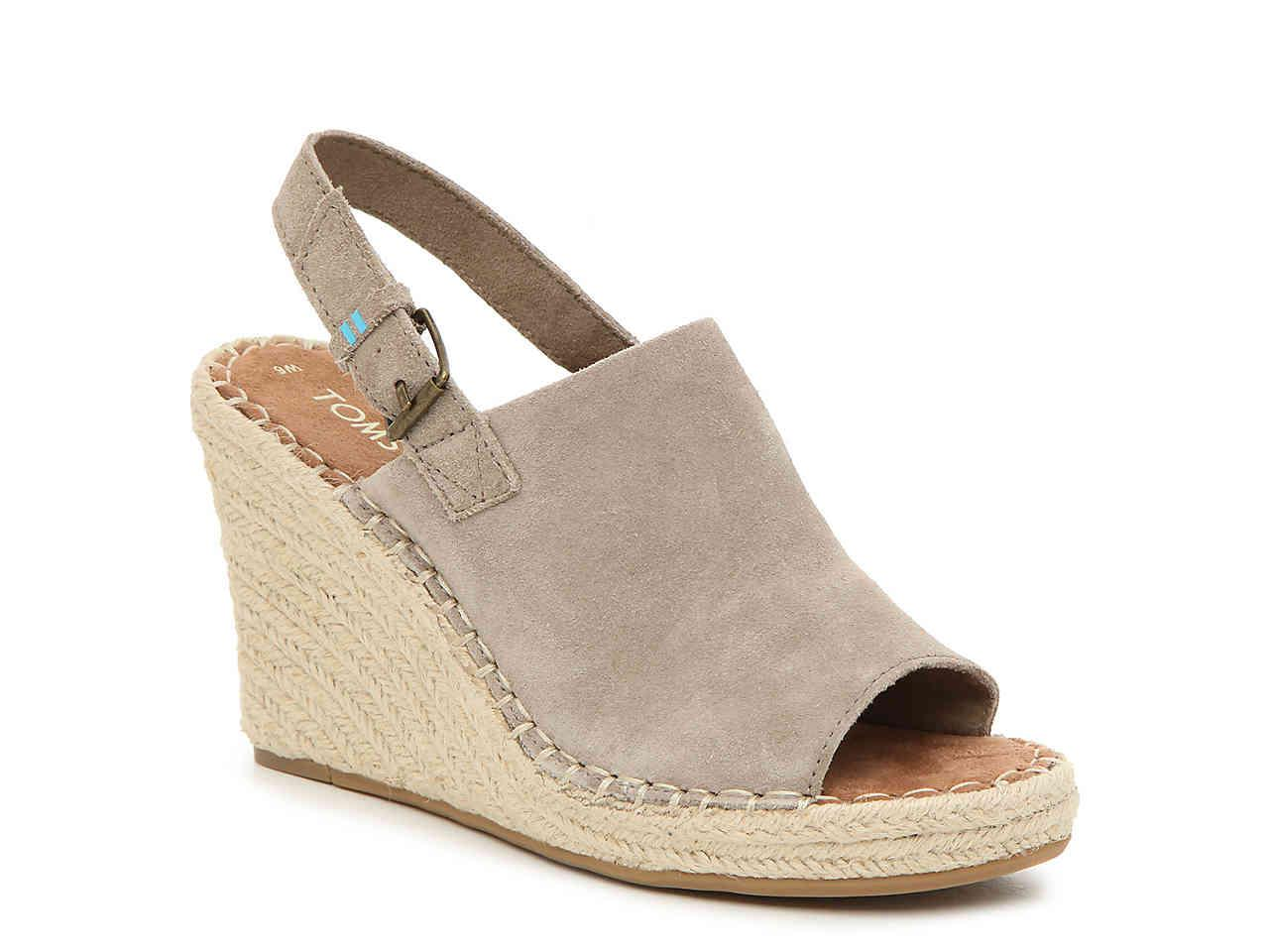 48b0fb113a43 TOMS. Women s Brown Monica Espadrille Wedge Sandal.  90 From DSW. Price  last checked 7 ...
