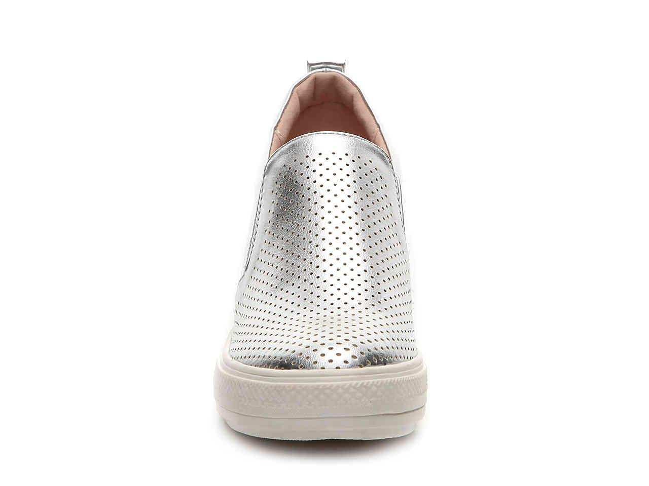 Wanted Complex Wedge Sneaker in Silver