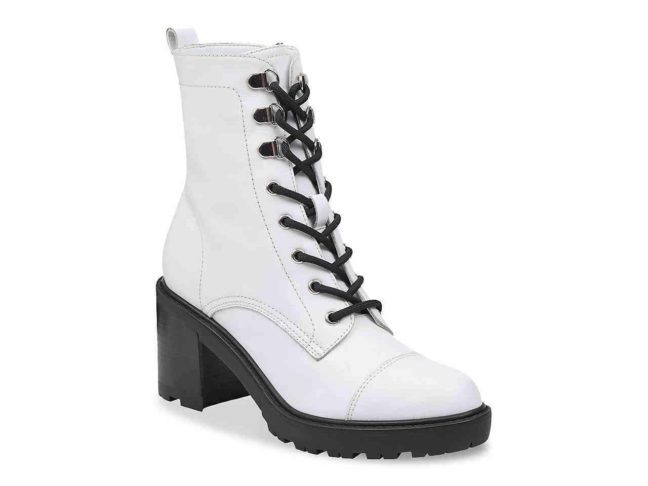 62b712cf72a Women's White Lanie Combat Boot