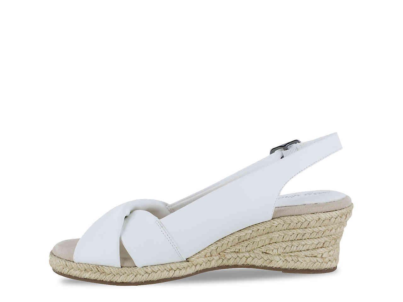 904f00cbe529 Easy Street - White Maureen Espadrille Slingback Sandals - Lyst. View  fullscreen