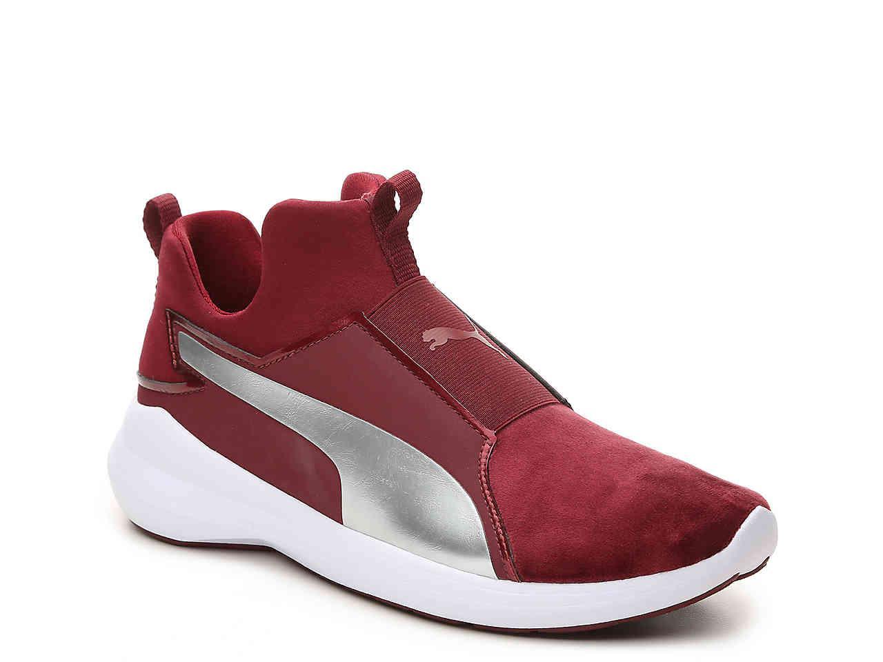 b73918af PUMA Red Rebel Mid Velvet Slip-on Training Shoe