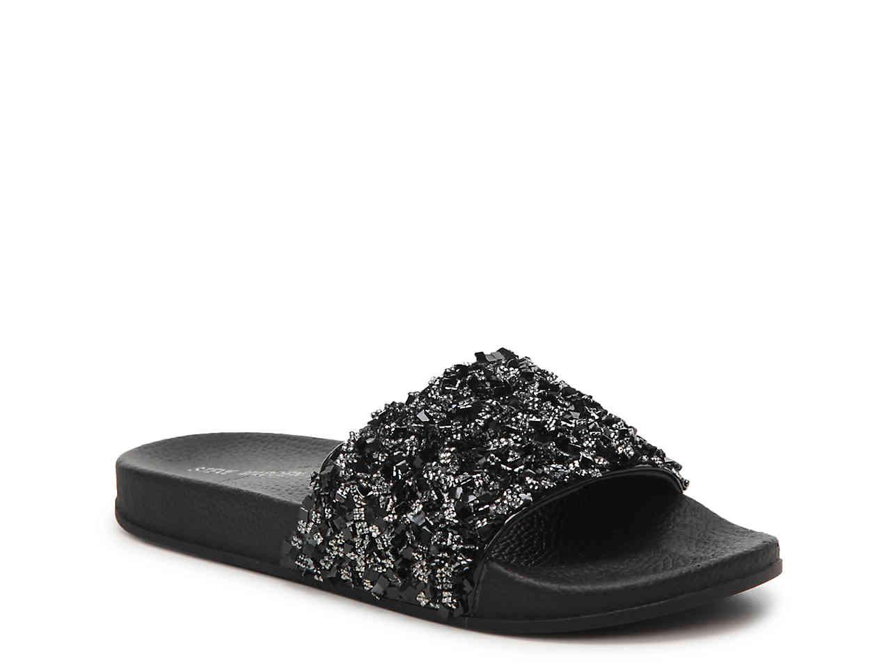 fd89693bfad Steve Madden Black Cady Slide Sandal