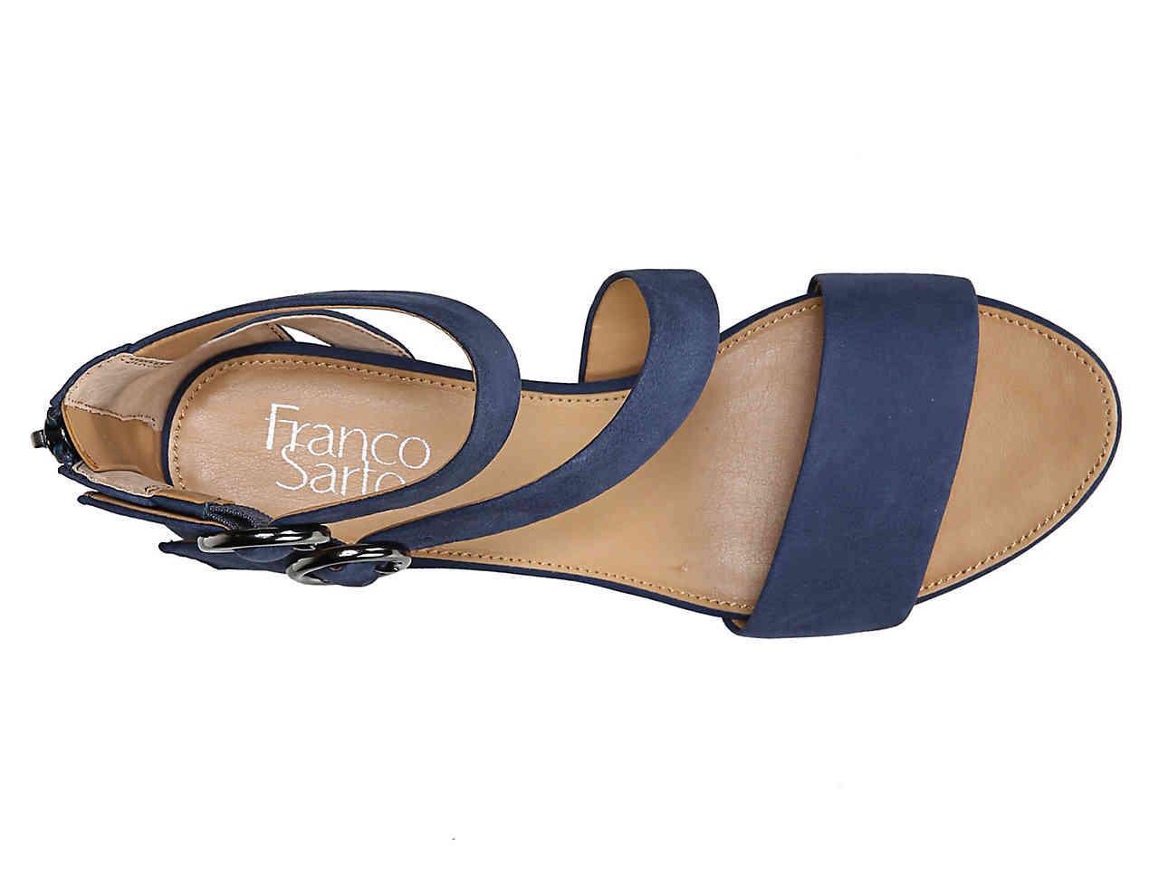 a14ba2945fe Lyst - Franco Sarto Derek Wedge Sandal in Blue