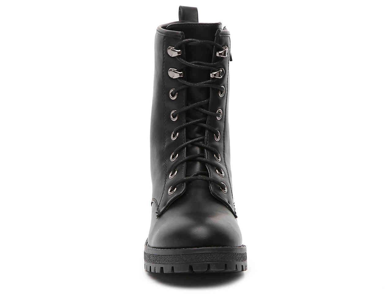 Madden Girl Rubber Eloise Combat Boot