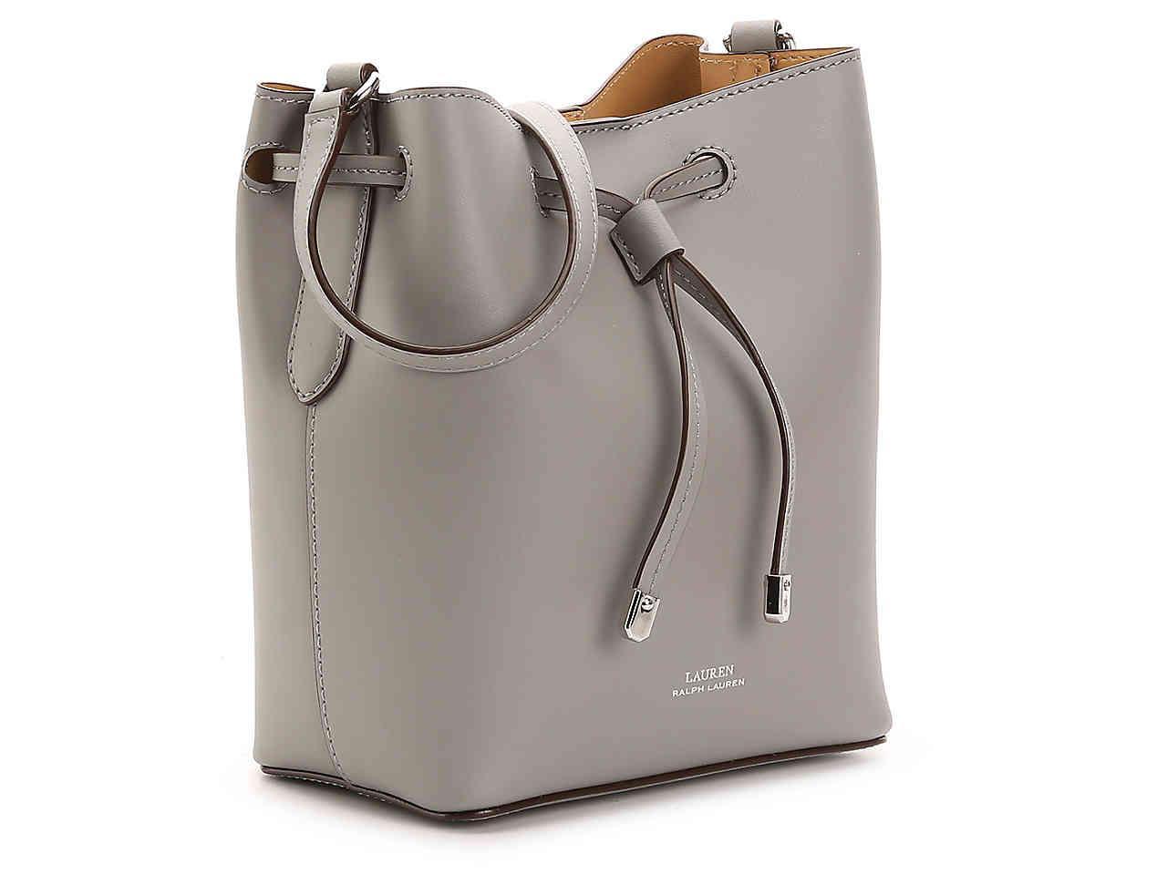 d10cc9acb6cf0 Lauren by Ralph Lauren Dryden Debby Leather Crossbody Bag in Gray - Lyst