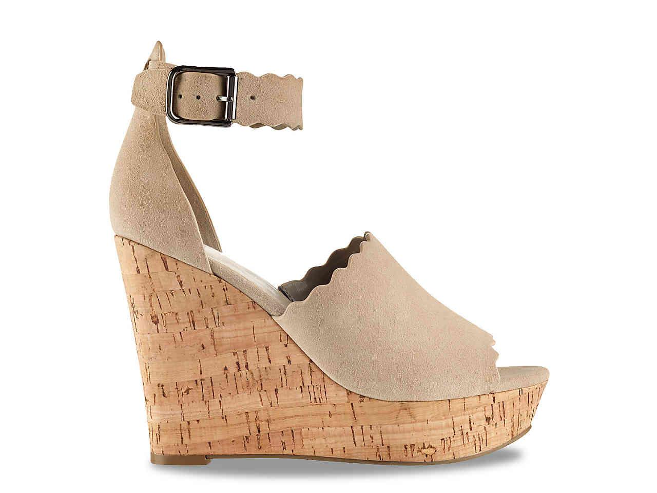a843cce73f Marc Fisher Hayo Wedge Sandal - Lyst