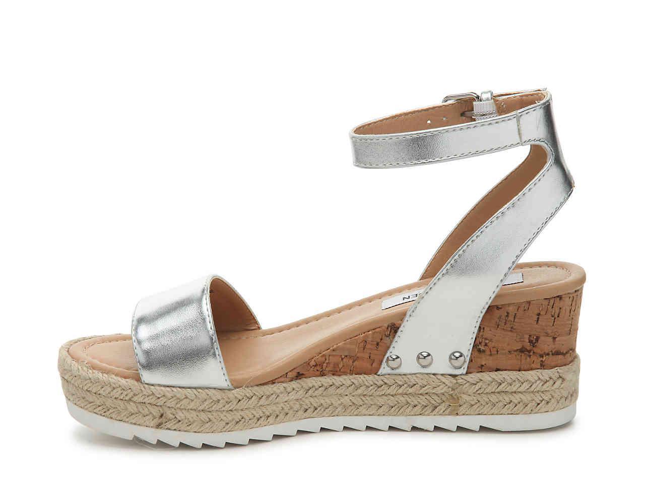 2a9aa510b25 Steve Madden Metallic Jaide Espadrille Wedge Sandal