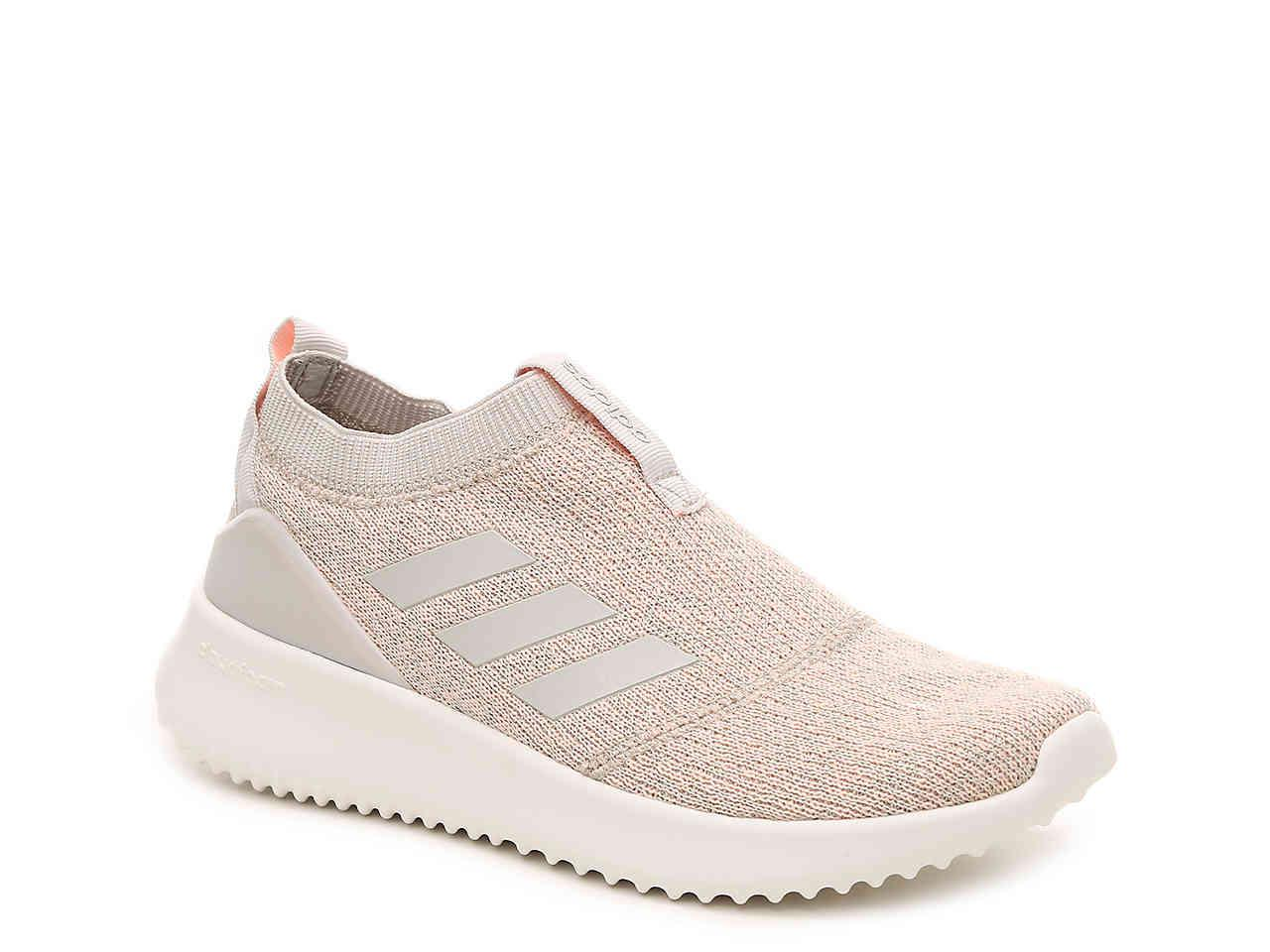 adidas Synthetic Ultimafusion Slip-on Sneaker in Grey/Light Pink ...