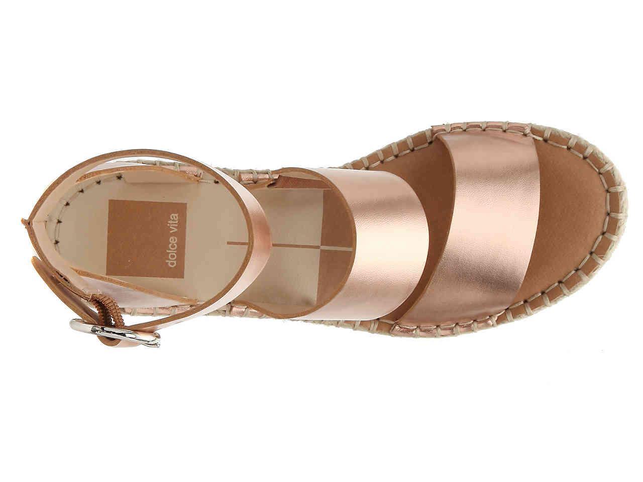 030cf8e5fbe7 Dolce Vita Shae Espadrille Wedge Sandal in Metallic - Lyst