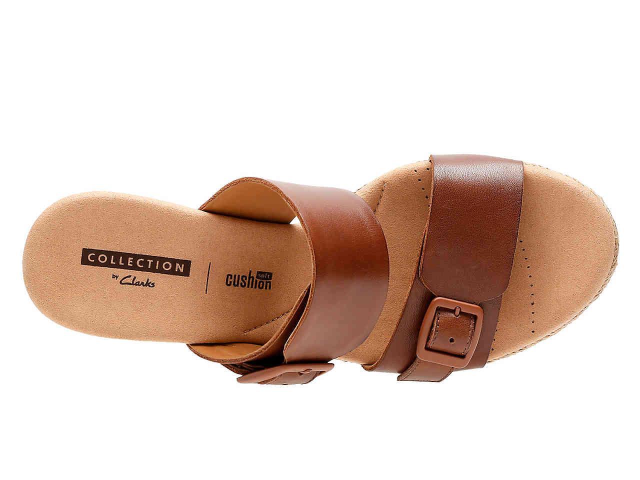 0853b5406d2 Clarks Brown Lafley Devin Espadrille Wedge Sandal