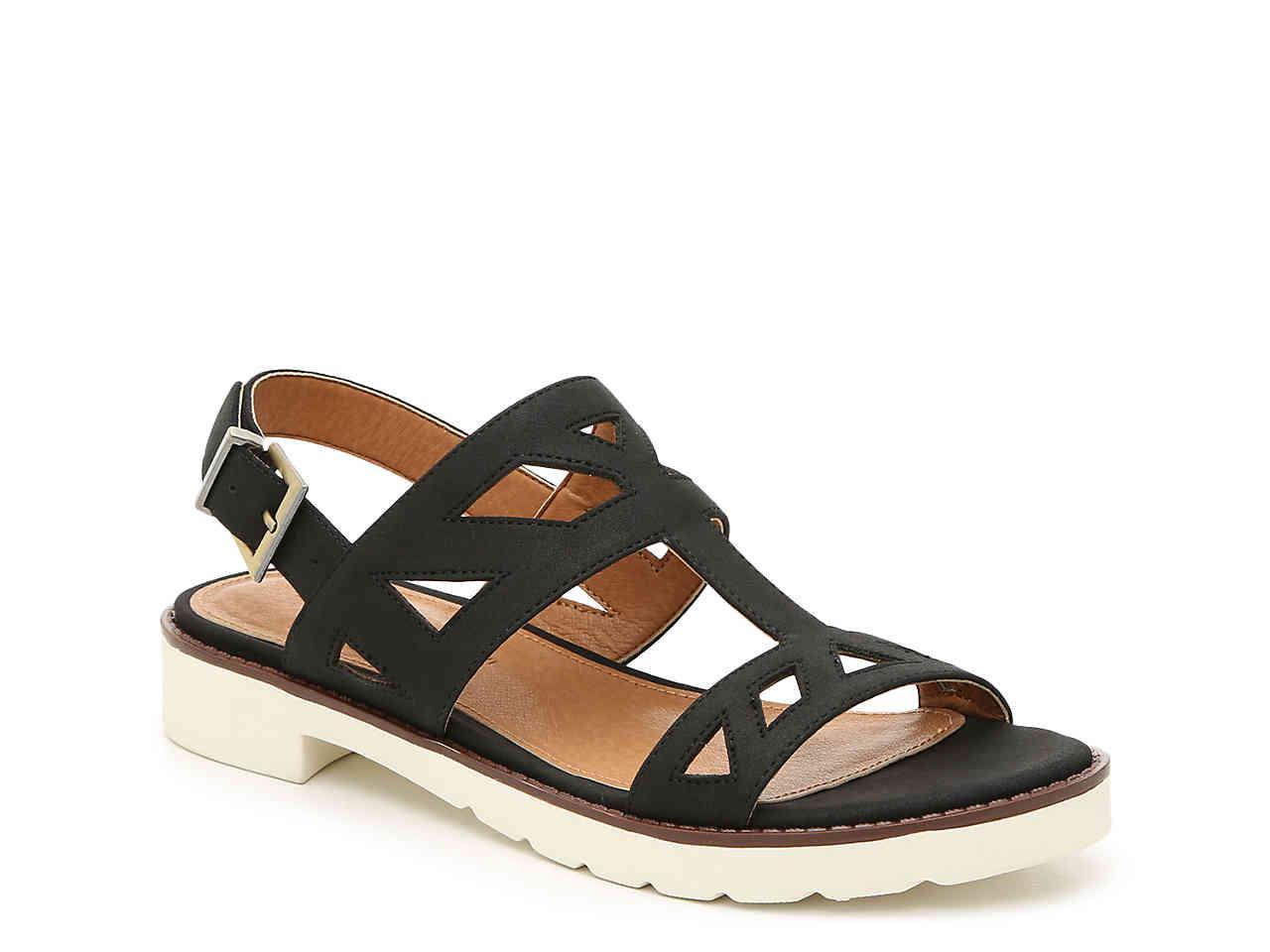 11ae1144a4bd Lyst - Adrienne Vittadini Seka Sandal in Black