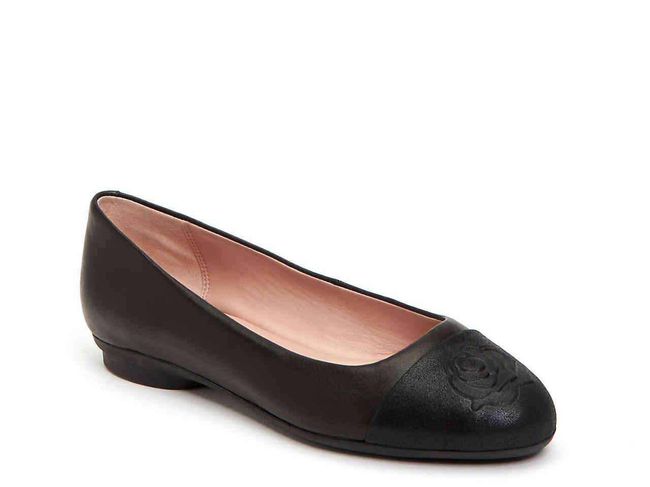 bdae2e52fc5c Lyst - Taryn Rose Annabella Ballet Flat in Black