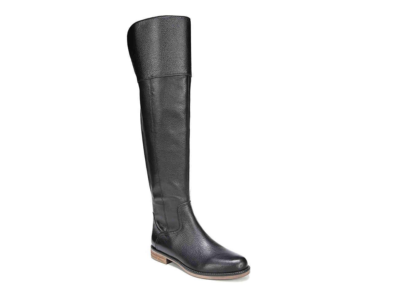 b4f69d68317 Lyst - Franco Sarto Carlisle Over The Knee Boot in Black - Save 46%