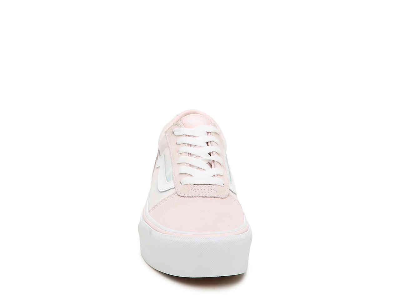 Lyst - Vans Ward Platform Sneaker in Pink bea14d102